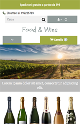 Storeden theme - mobile preview - Wine Tasting